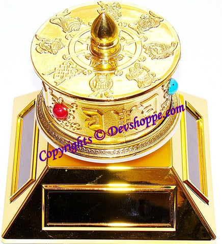 Tibetan Solar Prayer Wheel with 4 way solar penals - Devshoppe