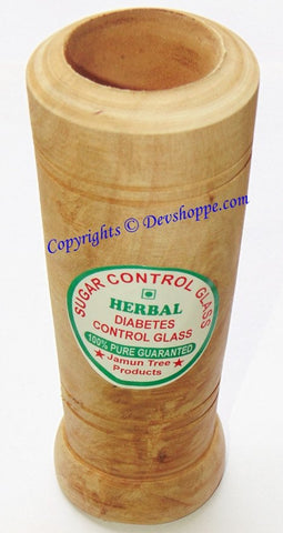 Jamun wood Herbal Tumbler to Control Diabetes & Sugar - Ayurvedic Wood Glass - Devshoppe