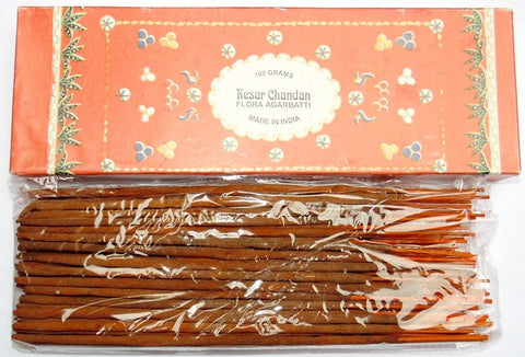 Kesar Chandan flora Incense sticks (Agarbatti) - Very high quality - Devshoppe