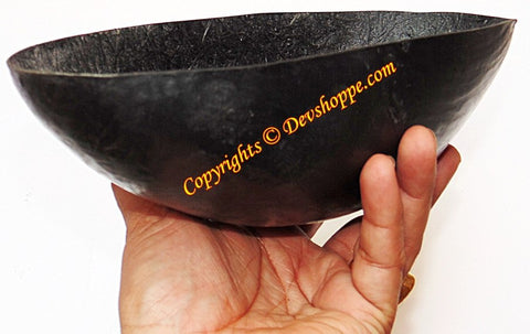 Khappar - vessel used by Sadhus to eat food and drink water , made of fibre - Devshoppe