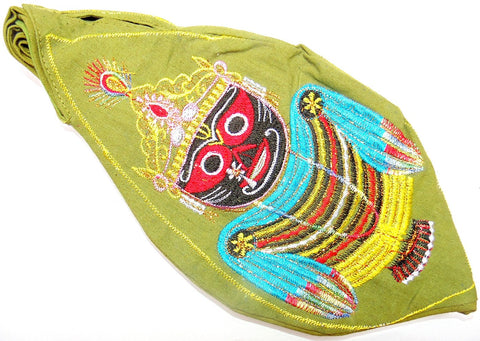 Sri Jagannath Gomukhi japa mala bag - Green - Devshoppe - 1