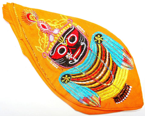 Sri Jagannath Gomukhi japa mala bag - Yellow - Devshoppe