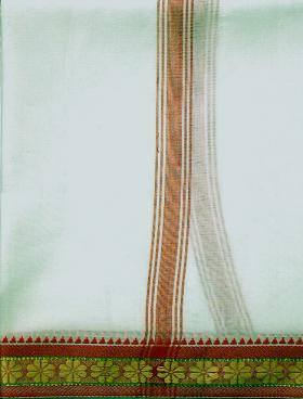 Off White coloured Puja dhoti - Devshoppe