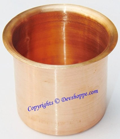 Panchapatra in Copper (Medium sized) - Devshoppe