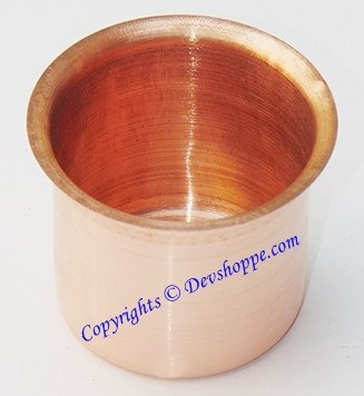 Panchapatra in Copper (small) - Devshoppe