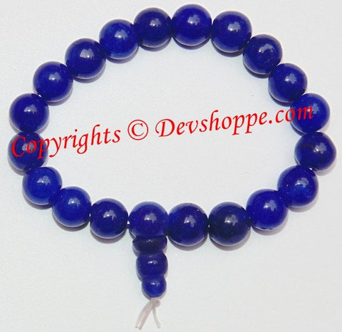 Blue hakik (agate) power Bracelet for peace and reducing stress - Devshoppe