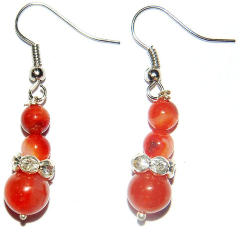 Carnelian beads earrings - Devshoppe