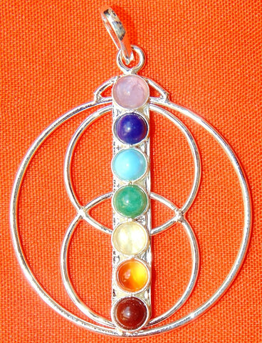 Chakra Triple circles pendant in German silver - Devshoppe