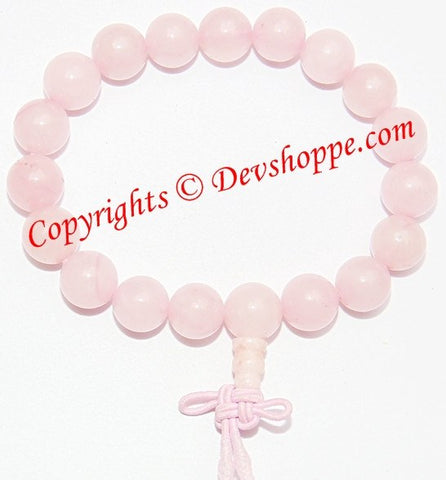 Rose Quartz power bracelet ~ High quality beads - Devshoppe