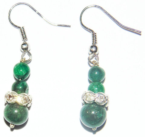 Green Jade beads earrings - Devshoppe