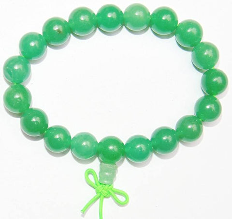 Healing Green Jade power beads bracelet for luck and health ~ AAA Quality beads - Devshoppe