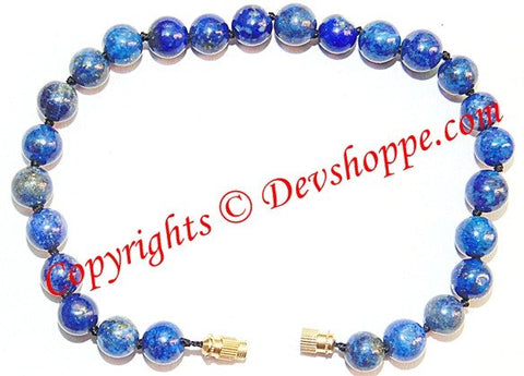 Lapis Lazuli (Lapiz) beads bracelet in thread ~ Superb Quality - Devshoppe