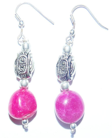 Pink Jade earrings - Devshoppe
