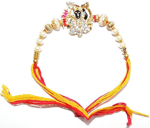 Shrinath ji Raksha Sutra (Rakhi) band for protection and goodluck - Devshoppe - 1