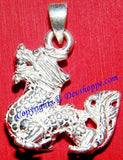 Silver Dragon pendant ~ Chinese good luck charm - Devshoppe - 2