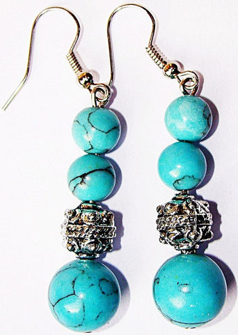 Turquoise ( Firoza ) earrings - Devshoppe