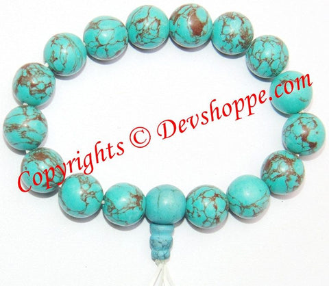 Turquoise ( Firoza ) Power bracelet , high quality beads - Devshoppe