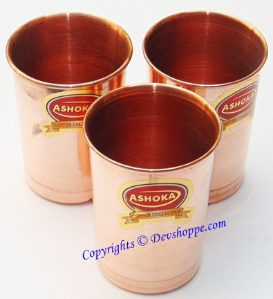 Set of 3 pure Copper glasses - Devshoppe