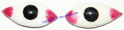 Pair of eyes (Netr , Nayan ) to use on God idols and Shaligrama 2 cms - Devshoppe