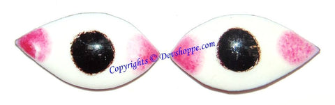 Pair of eyes (Netr , Nayan ) to use on God idols and Shaligrama 3 cms - Devshoppe