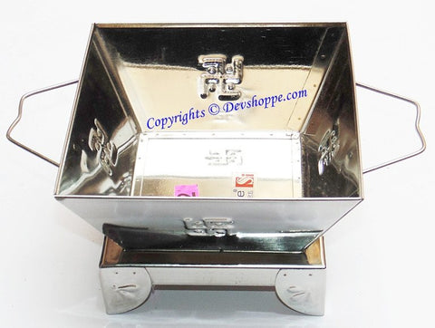 Stainless Steel Havan (hawan) kund - 5 inches - Devshoppe