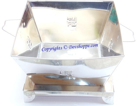 Stainless Steel Havankund for homam and yajnas - 9 inches - Devshoppe