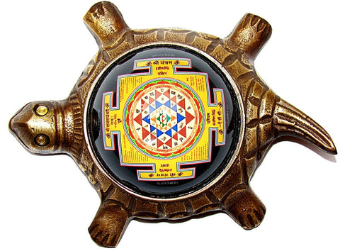 Shree Yantra on Tortoise, Kurm Shree Yantra - Devshoppe