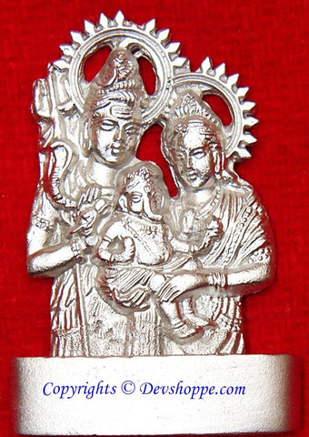 Parad Shiv Parivar idol (Family of Shiva) - Devshoppe