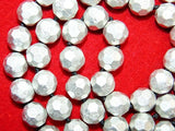 Parad mala 11 mm sized beads in diamond cutting , Superb quality - Devshoppe