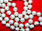Parad mala 9 mm sized beads in diamond cutting , Superb quality - Devshoppe - 2