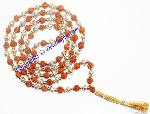 Rudraksha Parad combination mala for spiritual benefits, Super quality - Devshoppe - 1