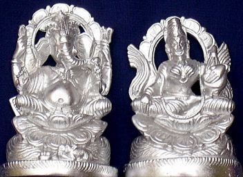 Parad Sri Ganesha and maa Lakshmi idol - Devshoppe