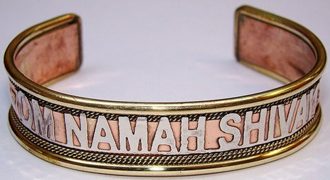 Lot of six Hindu Om Namah shivay healing bracelet from Nepal - English - Devshoppe