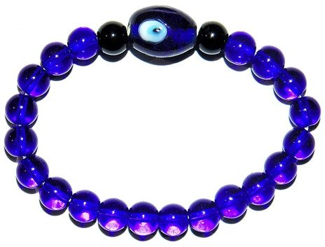Evil eye Lucky charm bracelet for protection in stretch elastic - Devshoppe