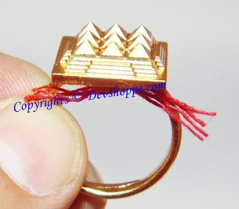 Fully adjustable high quality Pyramid ring in brass for positive energy - Devshoppe - 1