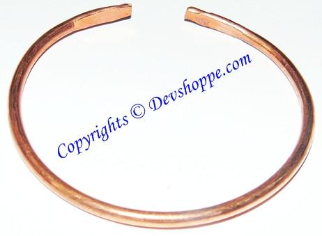 Pure Copper Kada thin size - Devshoppe - 1