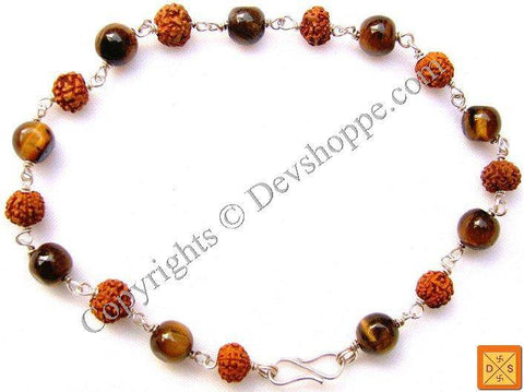 Rudraksha Tiger eye Combination Bracelet - Devshoppe