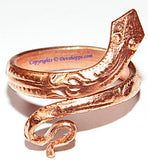 Snake shaped ring in pure Copper - Devshoppe - 1