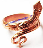 Snake shaped ring in pure Copper - Devshoppe - 3