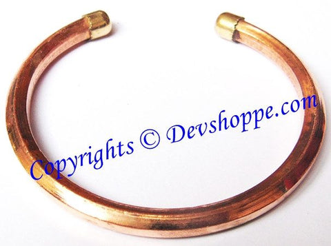 Solid pure Copper Kada - Devshoppe - 1