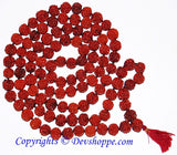 Five faced ( 5 mukhi ) big sized Rudraksha beads mala 108+1 beads - Devshoppe