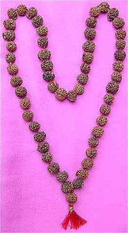 Ganesha Rudraksha Mala of 54+1 Beads for Goodluck and Blessings of Lord Ganesha - Devshoppe