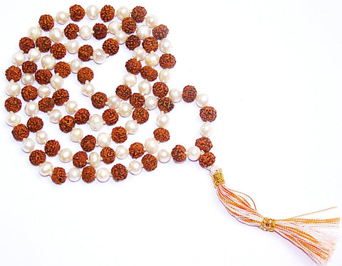 Rudraksha Pearl (moti) combination mala Superb quality - Devshoppe