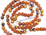 Rudraksha Tiger eye combination mala for Power and Confidence - Devshoppe
