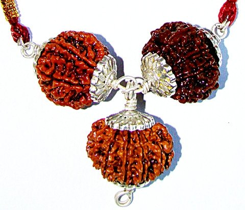 Lakshmi Ganesha Rudraksha Pendant for Wealth and Prosperity - Devshoppe