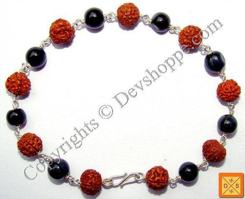 Rudraksha and Cat's Eye Combination Bracelet - Devshoppe