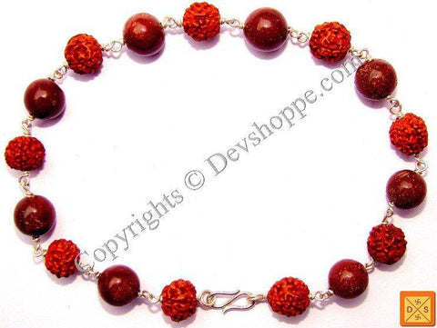 Rudraksha and Jasper Combination Bracelet - Devshoppe