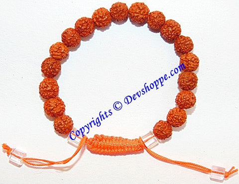 Rudraksha bracelet (wristband) in thread - fully adjustable - Devshoppe