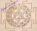 Goddess Chamunda yantra on copper plate - Devshoppe - 2