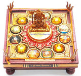Sampurn 12 Jyotirlinga Chowki with Shiva idol - Devshoppe